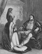 Henry VIII and Katharine Parr, 1546. Illustration for the Historical Scrap Book (Cassel, c 1880).