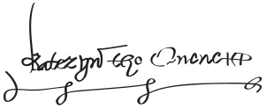 Signature of Katherine Parr