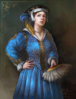 Modern depiction of Katherine by Kristina Gehrmann