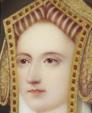 'Portrait of a lady called Katherine Parr', by Henry Pierce Bone, 1844.