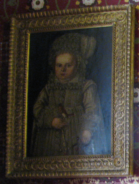 This portrait of a baby/small child hangs in the Nursery at Sudeley Castle. No identification on who it is.