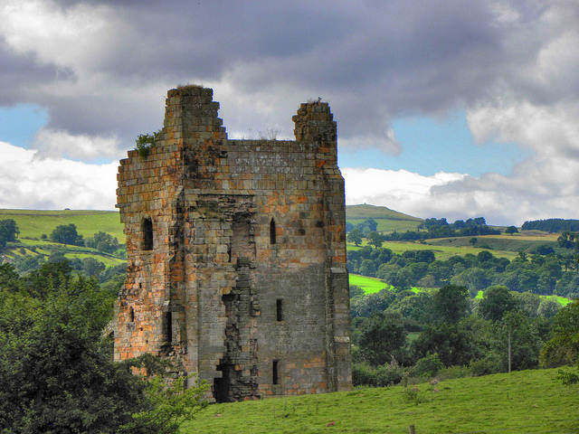 Ravensworth Castle, ancestral home to the Barons FitzHugh
