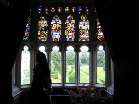 The nursery as it is today; the woman portrayed here is Queen Katherine's sister, Lady Anne Herbert [later Countess of Pembroke] who was Katherine's groom.