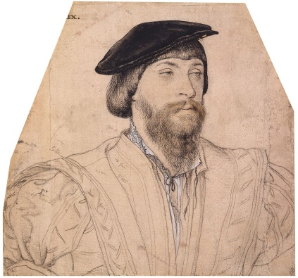 2nd Baron Vaux, sketch by Holbein.