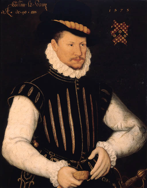 William, Lord Vaux of Harrowden (1535-1595), oil on panel 31 x 24½in. (78.8 x 62.2cm.). Inscribed