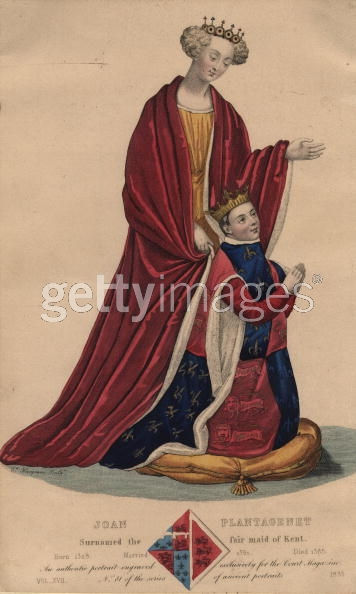 Princess Joan of Kent and her son, King Richard II