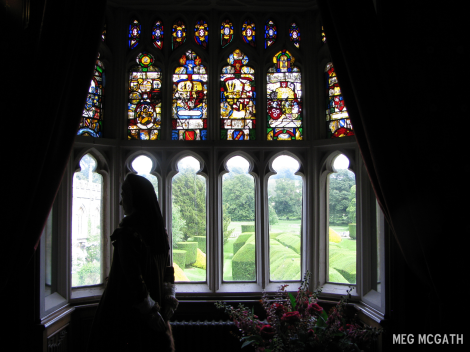 The nursery and apartments of the dowager queen with Lady Anne Herbert standing by [the queen's sister] © Meg McGath, 2012.