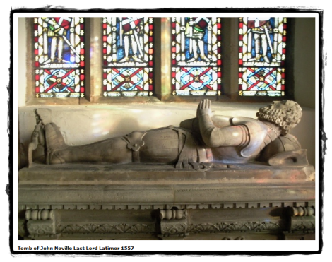 Effigy and tomb of the 4th Lord Latimer in Nevilles' Chapel, Wells, North Yorkshire Well Village Website © Well Parish Council 2011