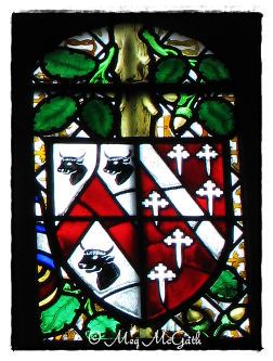 Arms of Sir Thomas Boleyn and his wife, Lady Elizabeth Howard.