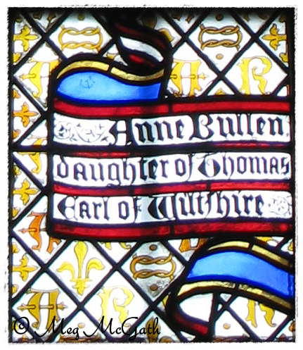 Anne Bullen, daughter of Thomas, Earl of Wiltshire [Stained Glass from Hampton Court]