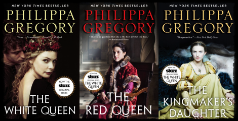The White Queen covers to promote the series by Philippa Gregory.