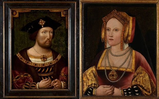 The two paintings will now be hung together for the first time in the National Portrait Gallery, nearly 500 years after they were painted Photo: National Portrait Gallery