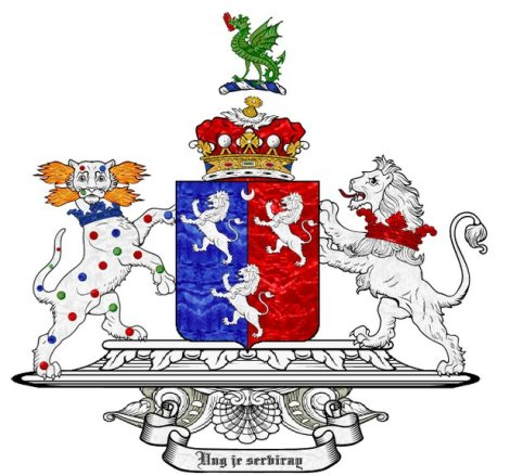 Marquesses of Powis and Earls of Powis, First Creation. The arms of William Herbert, 1st Marquess and Earl of Powis, grandson of the 1st Baron Powis.