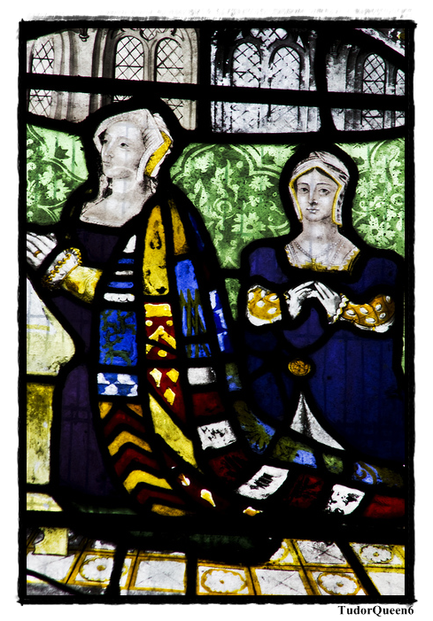 Lady Pembroke and her daughter, also named Anne (Lady Talbot). Wilton Church.