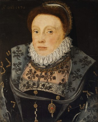 British English School An Unknown Lady once called Katherine Vaux, Lady Throckmorton National Trust Collections Coughton Court, Warwickshire 1576.