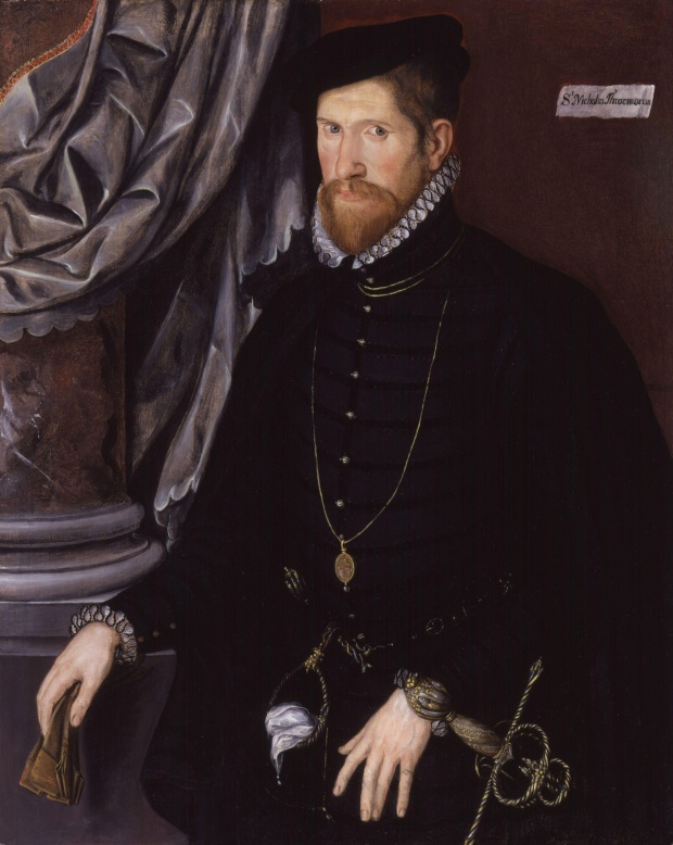 Sir Nicholas Throckmorton by Unknown Anglo-Netherlandish artist. © National Portrait Gallery, London