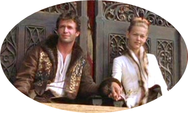 "The Prince and Princess of Wales portrayed by James Purefoy and an unknown actress in ""A Knight's Tale"" (2001)"