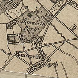 HANWORTH, a village and a parish in Staines district, Middlesex. Ordnance Survey First Series, Sheet 8.