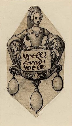 Drawn by Hans Holbein the Younger, c.1532-1543