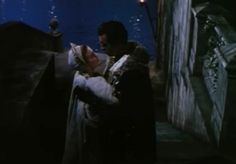 """Stewart Granger and Jean Simmons and Lord Seymour and Lady Elizabeth """"Young Bess"""" (1953)"""