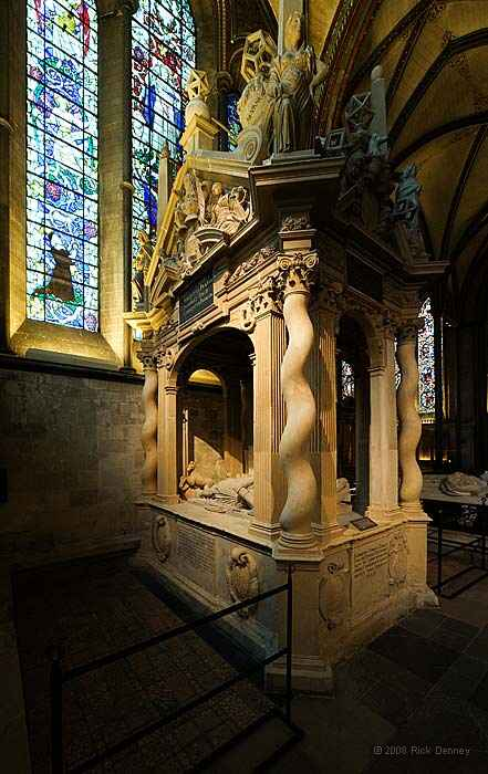 Helena, Marchioness of Northampton and Sir Thomas Gorges in Salisbury Cathedral.