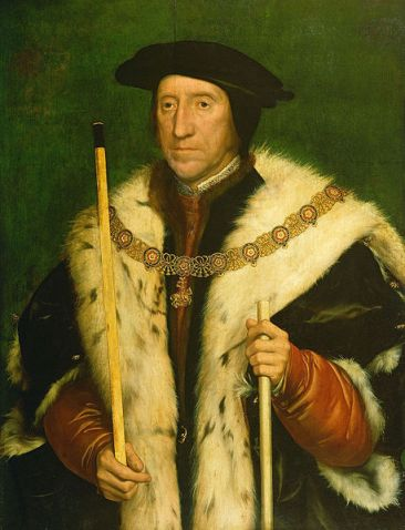 Portrait of Thomas Howard, 3rd Duke of Norfolk by Han Holbein, the Younger c. 1539-40. Royal Collection, Windsor.