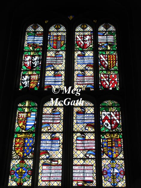 Pedigree window of Queen Anne Boleyn.