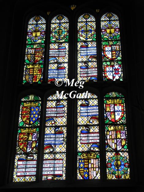 Pedigree window of Katherine of Aragon