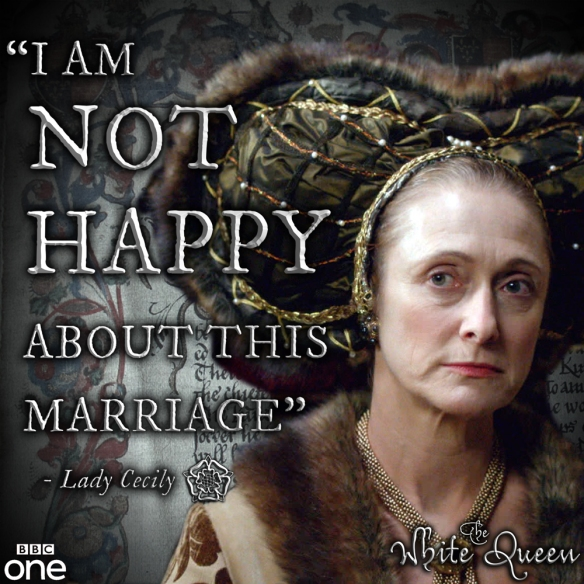 Lady Cecily, Duchess of York portrayed by Caroline Goodall.