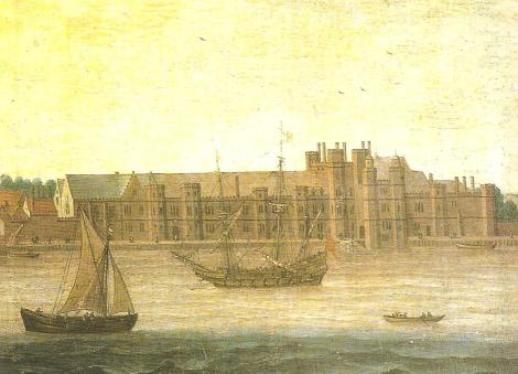 Anonymous painting of Greenwich Palace during the reign of Henry VIII. [Wiki]