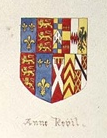 Queen Anne's arms as Queen of England.