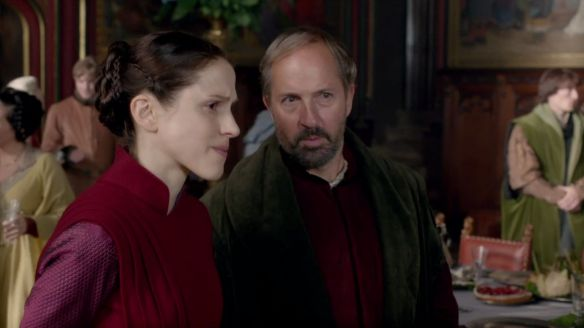 Lord Stafford and Lady Margaret Beaufort portrayed by Michael Maloney and Amanda Hale