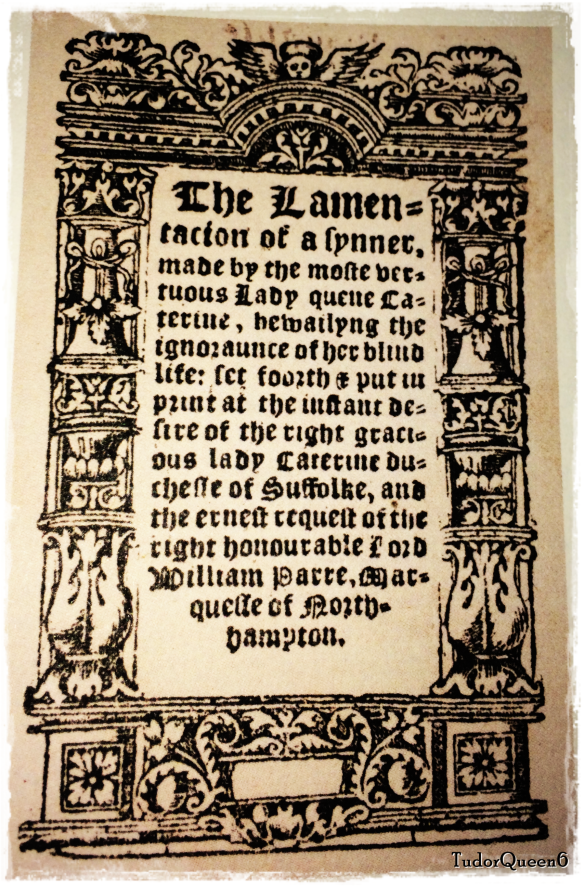 A publication of the book c.1550 [after the death of Queen Katherine]