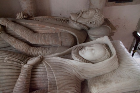 Tomb of John and Margery Throckmorton, Coughton Court, Warwickshire, England.