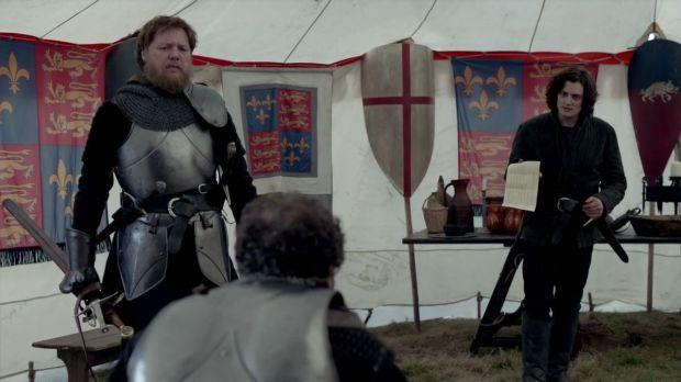 """""""The White Queen"""", BBC. Richard III detains Stanley's eldest son, Lord Strange."""