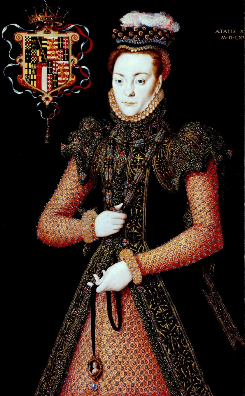 Portrait of an Unknown Lady c.1565-8 by Hans Eworth active 1540-1573