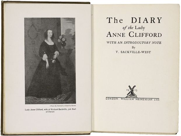 796px-1923_diary_of_lady_anne_clifford
