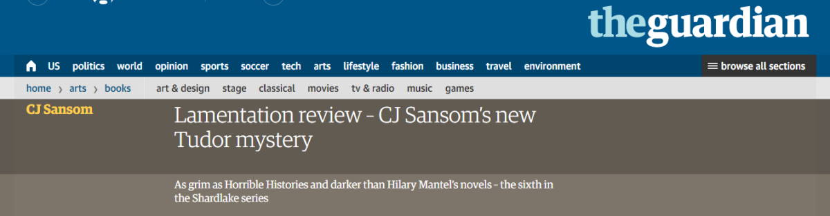 """Queen Katherine and Media: Review of """"Lamentation"""" by CJSansom"""