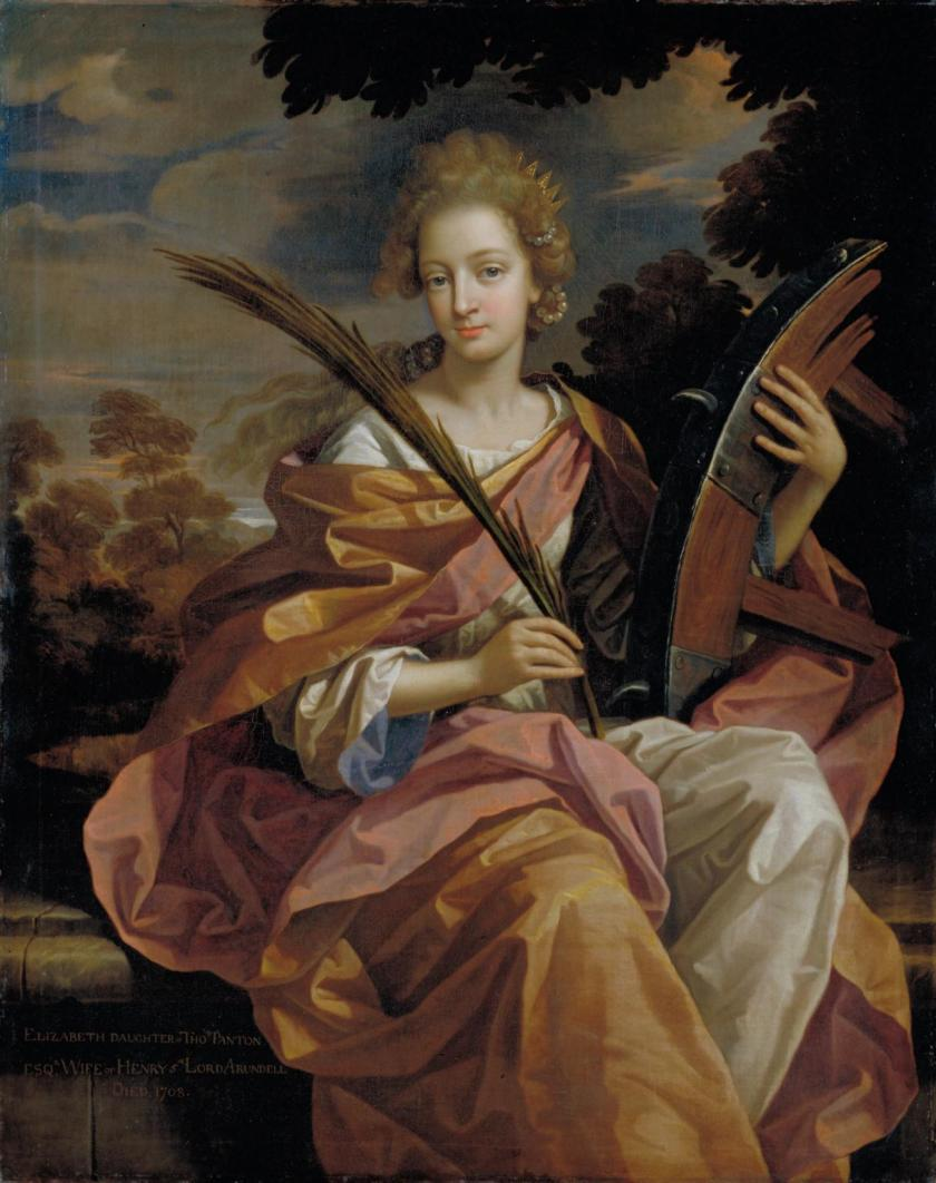 Elizabeth Panton, Later Lady Arundell of Wardour, as Saint Catherine 1689 by Benedetto Gennari 1633-1715