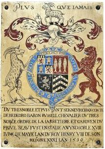 garter plate john russell 1st earl of bedford 1539